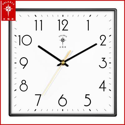 北極星(POLARIS)石英鐘鐘表掛鐘客廳時鐘靜音掛表現代創意簡約辦公室家用裝飾表時尚北歐大氣萬年歷臥室日歷壁鐘