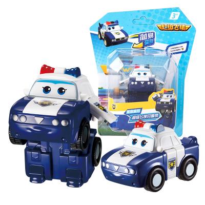 奥迪双钻(AULDEY)超级飞侠 男孩女孩儿童玩具车 迷你变形-贝警员 730033