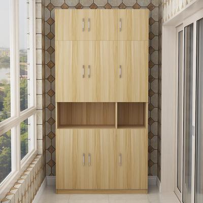 定制 新款防曬陽臺儲物柜定做帶儲物柜收納雜物柜定制! 3門加頂柜高240長120深40 組裝