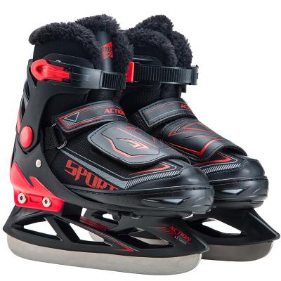 动感ACTION 冰刀鞋 儿童成人滑冰鞋 可调加厚保暖球刀溜冰鞋 真冰冰刀