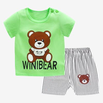 口袋虎0至6歲夏季男女童純棉T恤套裝