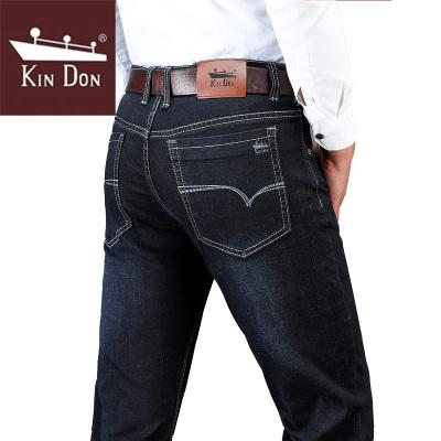 金盾(KIN DON)2019冬季新款男士牛仔裤男弹力直筒舒适中腰牛仔裤 男士休闲裤长裤子-PG