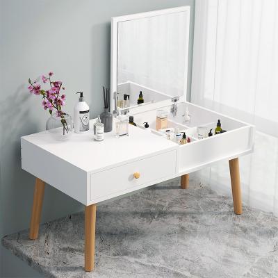 尋木匠梳妝臺臥室小型化妝桌現代簡約收納柜一體網紅ins化妝飄窗梳妝臺