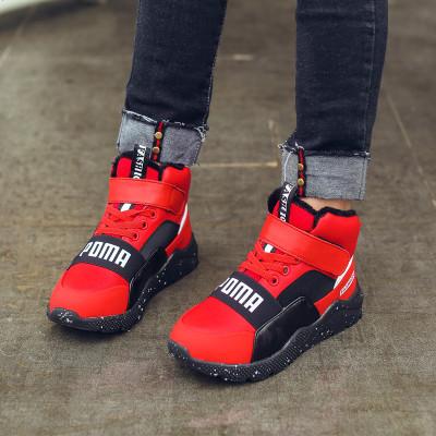 男童棉鞋冬季加绒加厚儿童二棉鞋2019新款保暖中大童男孩棉鞋子潮