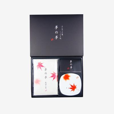 日本香堂夢之夢秋錦禮盒系列線香臥室熏香房間香薰禮物香盤香插