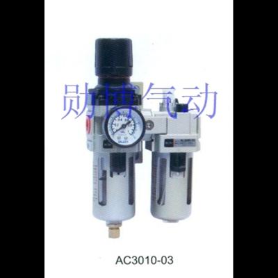 闪电客 气源处理器_空气过滤组合二连_AC3010-02_SMC型_油水分离器 抖音