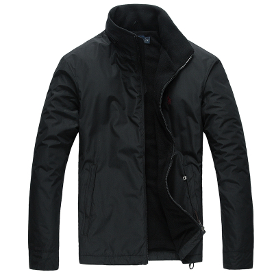 polo ralph lauren拉夫劳伦男装小马标开衫加绒加厚夹克立领休闲外套6805黑色