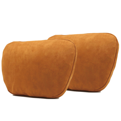 (干邑色頭枕2個)ZHUAX汽車頭枕護頸枕頸椎枕靠枕車內座椅腰靠車用小枕頭車載抱枕車內四季睡覺奔馳邁巴赫S級高檔