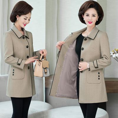 40至50歲的風衣女春天穿的婦女媽媽裝春季外套中長款中老年洋氣上衣中年女裝闊太太大碼