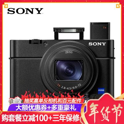 索尼(SONY)DSC-RX100M6 黑卡数码相机 黑卡6 专业卡片机 照相机 蔡司镜头 2010万像素 4K视频 WIFI分享 触摸对焦 Vlog视频拍摄