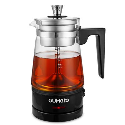 歐美特(OUMETE)M-DS0605煮茶器煮茶壺黑茶花茶壺蒸汽自動電茶壺泡茶養生壺便攜501-600ml高硼硅玻璃
