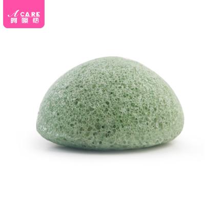 acare艾呵 天然魔芋洗脸洁面扑绿色洁肤球植物去角质黑头蒟蒻洗颜棉海绵日本