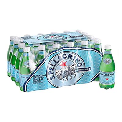 【矿物质水】圣培露(S.PELLEGRINO)天然气泡矿泉水塑料瓶 500ml*24瓶/箱 进口饮用水 意大利进口