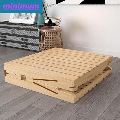 苏宁好货便携单人床不摇晃加厚简易床宿舍木质1.5经济型折叠木床雅逸新款