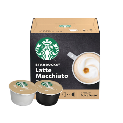 星巴克(Starbucks) 拿铁玛奇朵咖啡 咖啡胶囊129g(内含12颗)