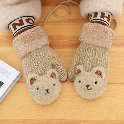 热卖儿童手套秋冬季加绒加厚 宝宝手套1-3岁男小童女小孩保暖卡通手套