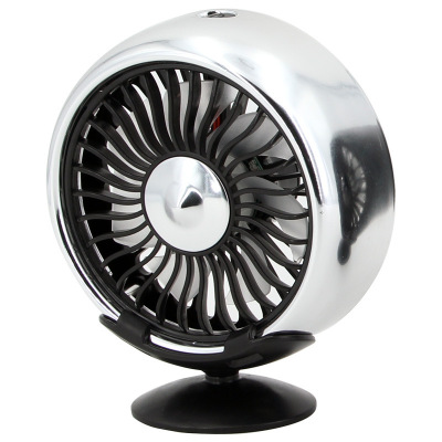 ZHUAX車載電扇12v大貨車24v汽車電風扇車用強力制冷車內空調降溫出風口小風扇旋轉中控臺USB夏季后排網紅創意多功能