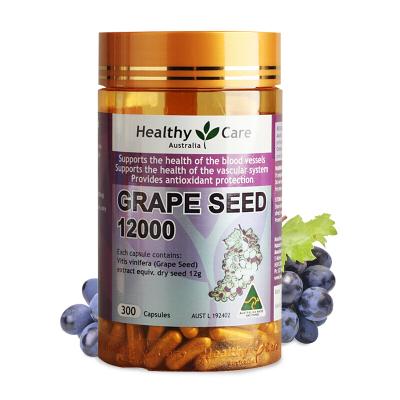 Healthycare 葡萄籽精華 軟膠囊 12000mg 300粒 1瓶裝 HC OPC 天然原花青素 澳洲進口