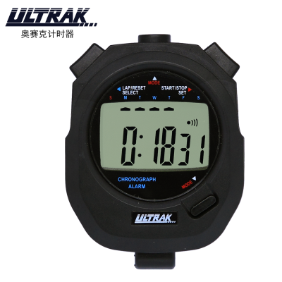 奧賽克ULTRAK秒表DTM63計時器 單排計時器 防水耐用比賽裁判教練田徑運動健身游泳跑步滑冰騎行鬧鐘