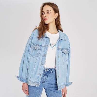 【1件3折价:163.8】MECITY女装2019早秋新款复古潮流短款牛仔夹克外套