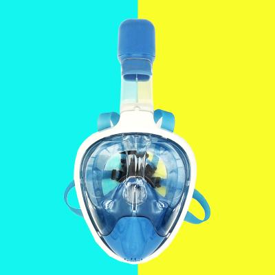 2019新款DOVOD浮潜全面镜学游泳神器户外游泳潜水装备 成人儿童游泳全面罩送泳镜一副 库存清货产品