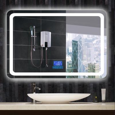 智能觸摸屏浴室鏡LED帶燈鏡梳妝衛浴鏡掛墻式酒店衛生間鏡子