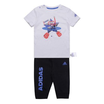 阿迪達斯兒童(adidas kids)夏季 IN TEE 34 SET2 男嬰童短袖 針織套服 CX3471