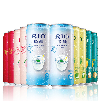 銳澳(RIO)洋酒 雞尾酒 預調酒 微醺系列組合 330ml*10罐(微醺4種口味*2+乳酸菌*2)