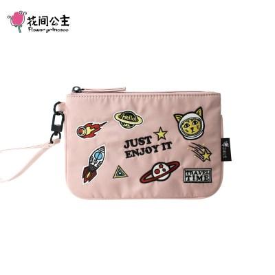 花間公主旅行時光女包迷你包包尼龍布包手提包新款文藝手拿包錢包
