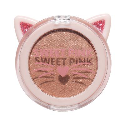 粉色安琪流光單色眼影(香醇奶茶)2.4G閃粉珠光防水啞光大地色品牌網紅款初學者
