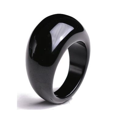天然玛瑙戒指 男扳指白玉髓扳戒玉石指环黑手饰本命年礼物送男友
