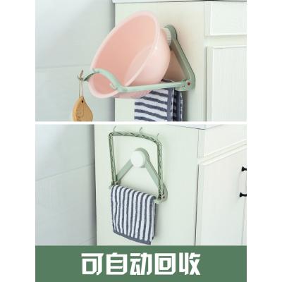 強力吸盤臉盆架掛架衛生間臉盆收納架浴室壁掛廚房墻壁掛鉤置物架