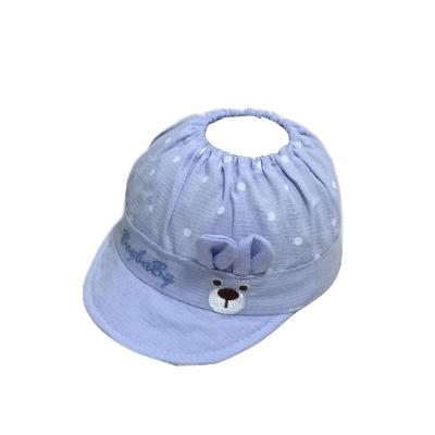 夏季新生兒鹵門帽胎帽空頂涼帽男女寶寶無頂遮陽帽透氣嬰兒帽子 威珺