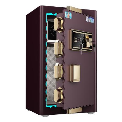 虎牌tiger保險柜家用保險箱辦公3C認證 FDG-A1/D60厘米高智能電子密碼指紋保險箱/柜 防盜阻撬曲線門新品