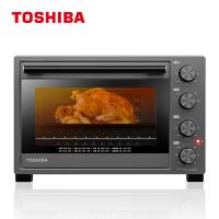 东芝电烤箱 机械式 32L 双层玻璃门 搪瓷内胆 恒温发酵 变频台式烤箱