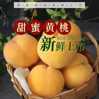 5斤裝現摘黃桃新鮮水果5斤裝約6-12個果(數量僅供參考以凈重為準)