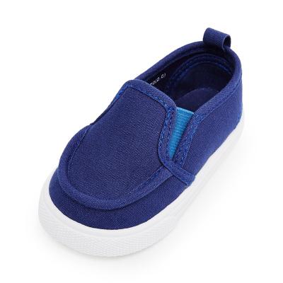 【1件3折价:40.8】moomoo童装儿童帆布鞋男童鞋小童宝宝鞋子春秋新款一脚蹬懒人鞋潮