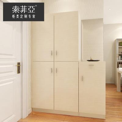 索菲亞入戶柜鞋柜定制客廳玄關收納帶門鞋架多功能間廳柜隔斷柜
