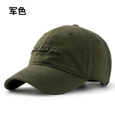NZTK 棒球帽男韓版潮鴨舌帽男百搭純棉帽子 黑色 55-60CM可調節