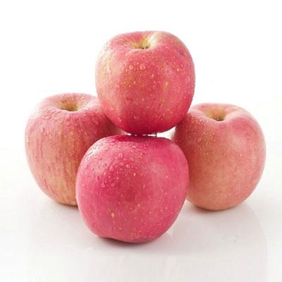 【熊貓鳥】山東煙臺紅富士蘋果 新鮮水果 甜美多汁 凈重4.5斤左右 中大果(2單合發1件凈重9斤左右裝 偶數件發貨)