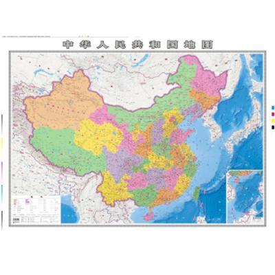 正版 中华人民共和国地图 成都地图出版社 成都地图出版社 9787555705116 书籍