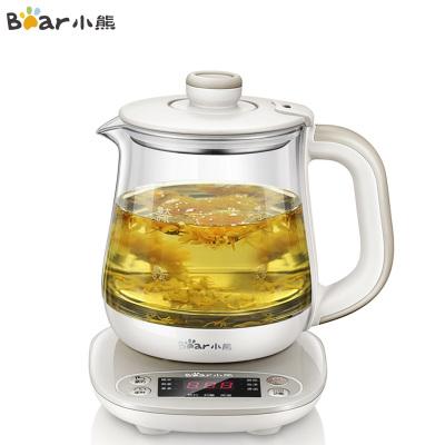 小熊(Bear)養生壺 YSH-A08U6 0.8升迷你容量家用辦公室燉煮花茶壺加厚高硼硅玻璃 按鍵式多功能燒水壺