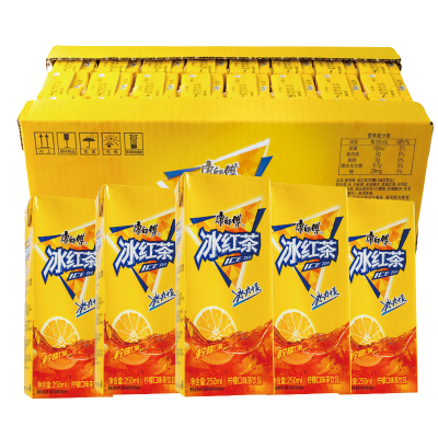 康師傅 冰紅茶250ml*24盒整箱裝 清涼夏日飲料