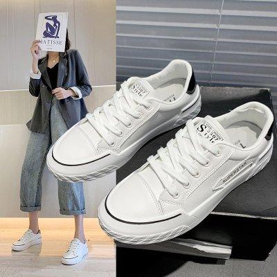 九形道(JIUXINGDAO)小白女鞋子2020年新款秋季韓版百搭休閑平底板鞋學生社會白鞋