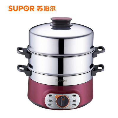 蘇泊爾(SUPOR) 電蒸鍋10L大容量雙層不銹鋼電蒸籠多功能電火鍋ZN28YK7-150