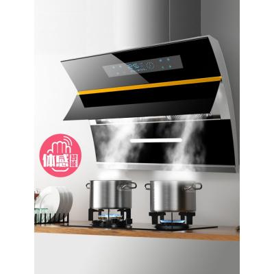 千百评欧派高抽油烟机家用厨房侧吸式自动清洗双电机吸油烟机燃气灶套餐D94W