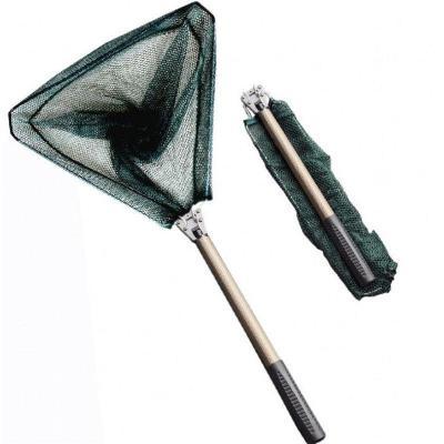 抄三角可折叠抄头钓鱼用品鱼抄杆铝合金3节1.33米四节1.64m