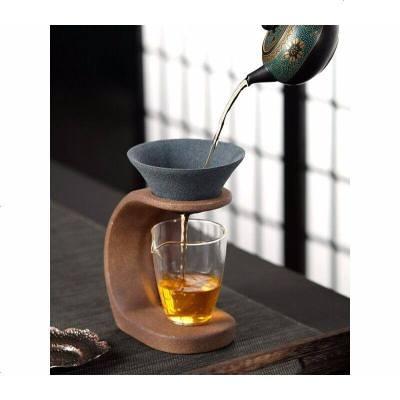 氧化鋁礦石茶濾無孔茶漏器套裝茶葉過濾器泡茶公道杯茶隔網濾茶器濾茶器茶濾網