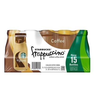 【產自美國】星巴克(starbucks)星冰樂原味咖啡飲料 281ml*15瓶/箱 進口咖啡 進口飲料 美國進口