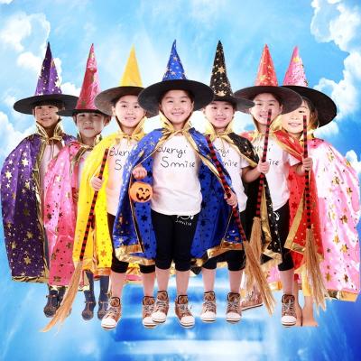 圣誕節萬圣節兒童服裝cos女童舞會演出服披風斗篷服飾男童巫婆表演衣服